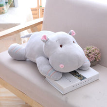 Load image into Gallery viewer, grey hippopotamus plushie toy stuffed animal