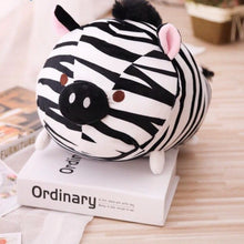 Load image into Gallery viewer, exotic animal plush toy cute zebra with pig nose