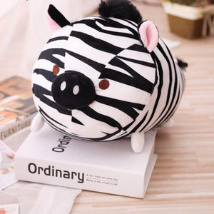 exotic animal plush toy cute zebra with pig nose