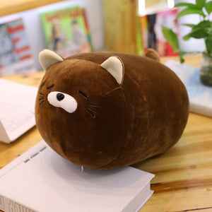 brown cat plushie pillow