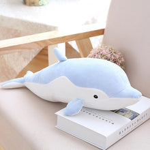 Load image into Gallery viewer, giant dolphin 80cm cute pink blue grey plushie plush toy high quality stuffed animal soft fluffy