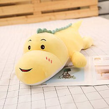 Load image into Gallery viewer, yellow smiling dinosaur plushie