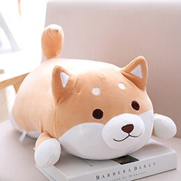 fat squishy brown open eyes shiba inu plushie