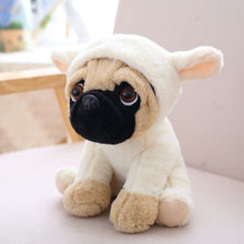 Load image into Gallery viewer, cute pug dog in rabbit plushie
