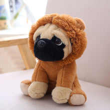 Load image into Gallery viewer, cute pug dog in lion plushie