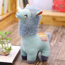 Load image into Gallery viewer, blue alpaca llama cute plushie