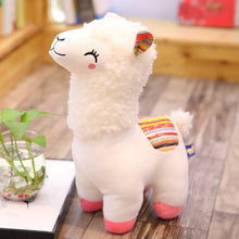 Load image into Gallery viewer, white alpaca llama cute plushie