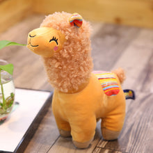 Load image into Gallery viewer, brown alpaca llama cute plushie