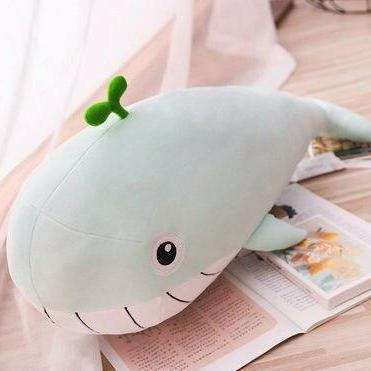 very soft cute plush toy smiley with teeth huge whale friends pillow stuffed animal green blue pink