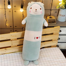 Load image into Gallery viewer, white bear long pillow bolster plushie