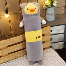 Load image into Gallery viewer, yellow duck long pillow plushie