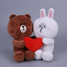 Load image into Gallery viewer, Cute brown bear plushie is shy to see how in love is Cony with itself :D