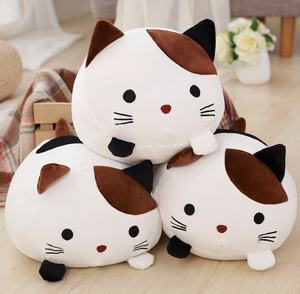 cute brown cat with black ear soft toy