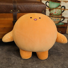 Load image into Gallery viewer, orange cute mow mow dow dow plush toy with the cutest smile