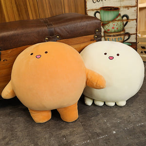 mow mow and dow dow plush toy with cute smile