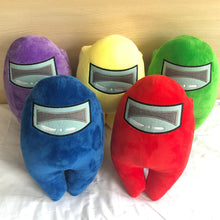 Load image into Gallery viewer, among us plushie 20cm in purple, yellow, green, blue and red colour