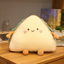 Load image into Gallery viewer, cute smiley sandwich plush toy perfect cushion for your sofa