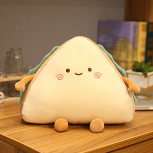 cute smiley sandwich plush toy perfect cushion for your sofa