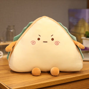 cute angry sandwich plush toy