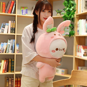 Huge but still cute dumpling plushie in pink