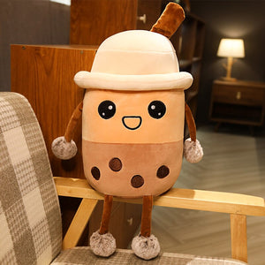 smiley cute bubble milk tea plush