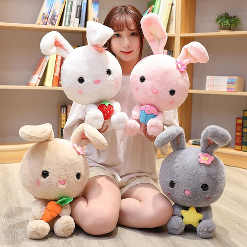 A family of cute rabbit plushie totally melts my heart! Get them to make your room feel more lovely.