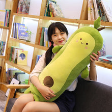 Load image into Gallery viewer, avocado long pillow plushie