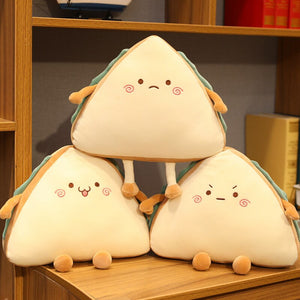 cute sandwich plushie with three different expressions