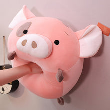 Load image into Gallery viewer, Is this how you treat your pig plushie when you are down or angry?