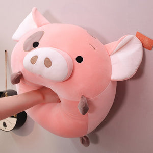 Is this how you treat your pig plushie when you are down or angry?