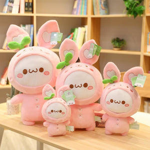 Dumplings family decided to go for pink rabbit today. Aren't they way too cute?