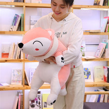 Load image into Gallery viewer, girl hugging pink fox plushie