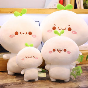 cute dumpling plushie with different sizes and facial expression