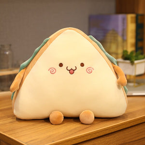 cute happy sandwich plush toy