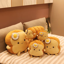 Load image into Gallery viewer, Cute toast plushie with sunny side up to start the day!