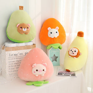 animals in fruits plushie