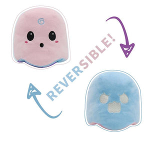 cute light pink reversible ghost soft toy is your best companion