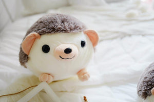 smiley cute little hedgehog stuffed animal perfect cuddle toy for kids