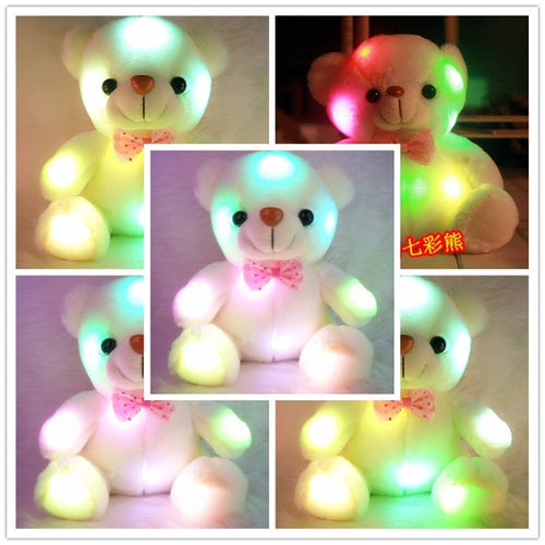 Cute luminating teddy bear plushie is the perfect gift for your kids or friends!