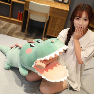 pink alligator/crocodile plushie