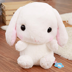 white stuffed bunny cute backpack