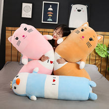 Load image into Gallery viewer, We have variety of colours and animals of this cute cartoon plushie for you to choose.