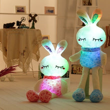 Load image into Gallery viewer, You get one, your bf/gf get one. Really cute glowing couple rabbit plushie right