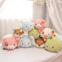 Load image into Gallery viewer, How lovely it is to have a collection of cute animal plushies on your bed ◡̈