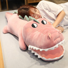 Load image into Gallery viewer, pink crocodile/alligator plushie