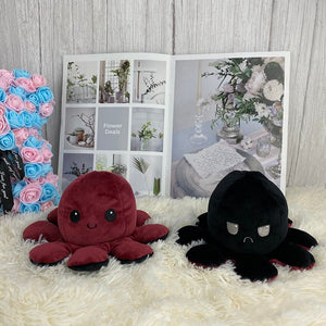 brown and black cute reversible octopus plushie
