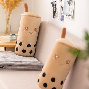 cute girly cylindrical boba bubble tea plushie