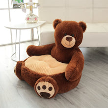Load image into Gallery viewer, brown bear plushie couch