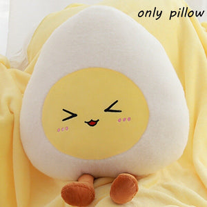 Cute Egg Plushie with Blanket