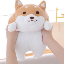 Load image into Gallery viewer, hand squishing fat brown shiba inu plushie